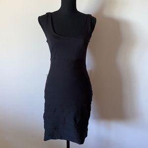 Kookai Womens Black Bodycon Dress Size 2 Stretch Pre Owned EC